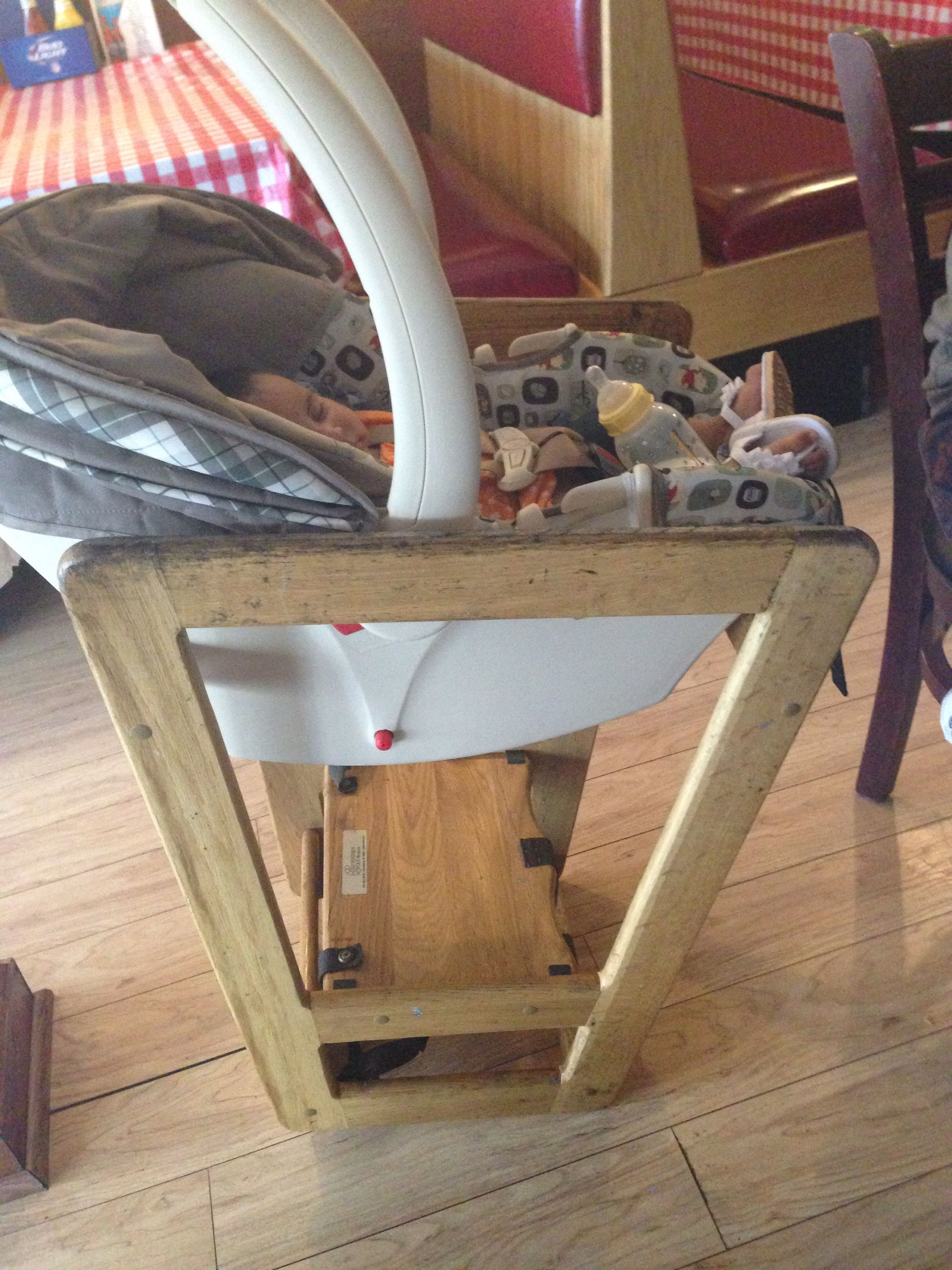 Chair Rail Upside Down Metal Chairs Folding Turn The Restaurant High To Fit A Car Seat Diy