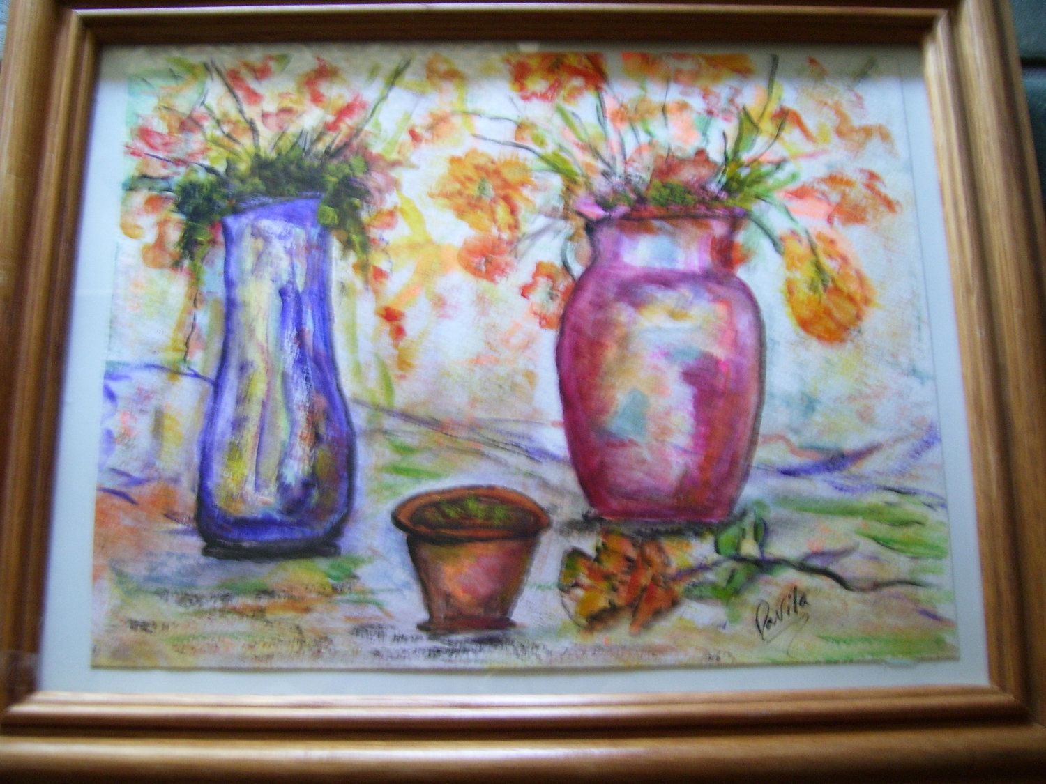 Original fine art oriental floral watercolor painting direct from ...