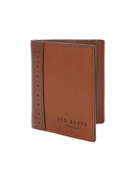 71e08025280a17 BROK - Brogue bifold wallet - Tan | Men's | Ted Baker UK | Wallets ...
