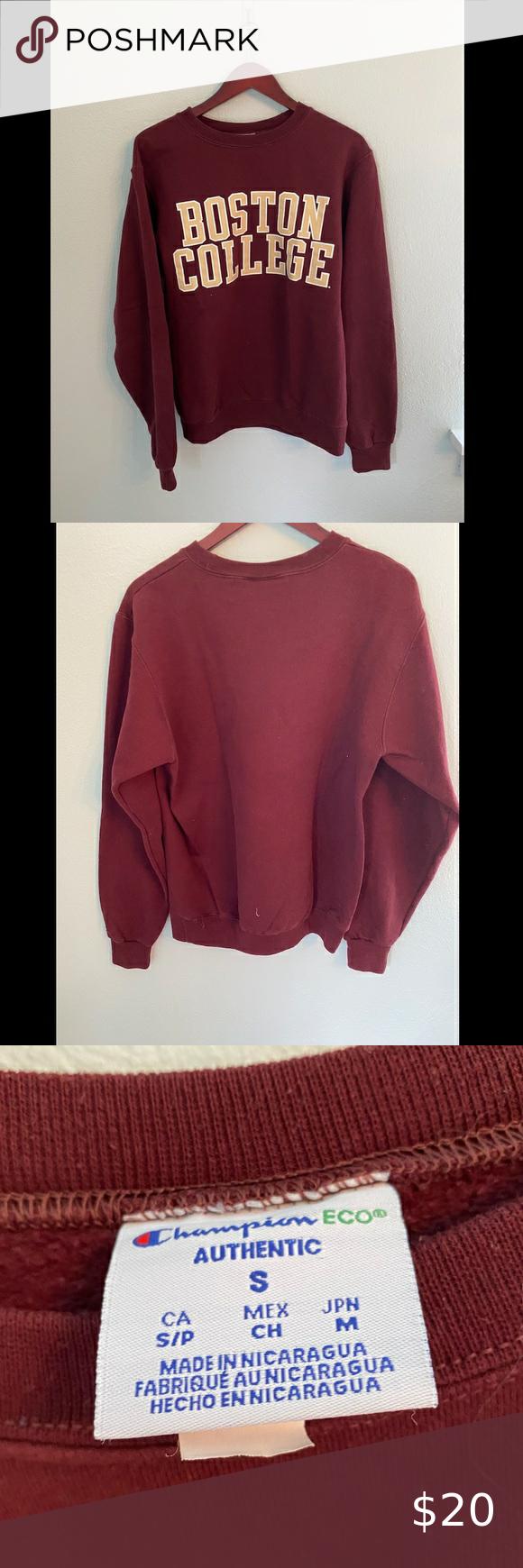 Champion Boston College Sweatshirt Sweatshirts College Sweatshirt Sweatshirt Tops [ 1740 x 580 Pixel ]