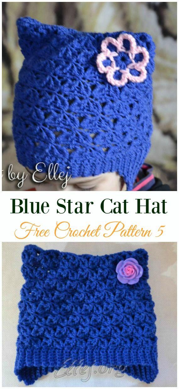 Fun Kids Cat Hat Crochet Patterns Häkelanleitung Pinterest