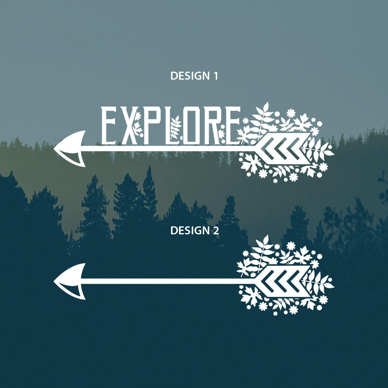 Explore Arrow Vinyl Decal By Theupsidecollection On Etsy Vinyl Decals Explore Vinyl