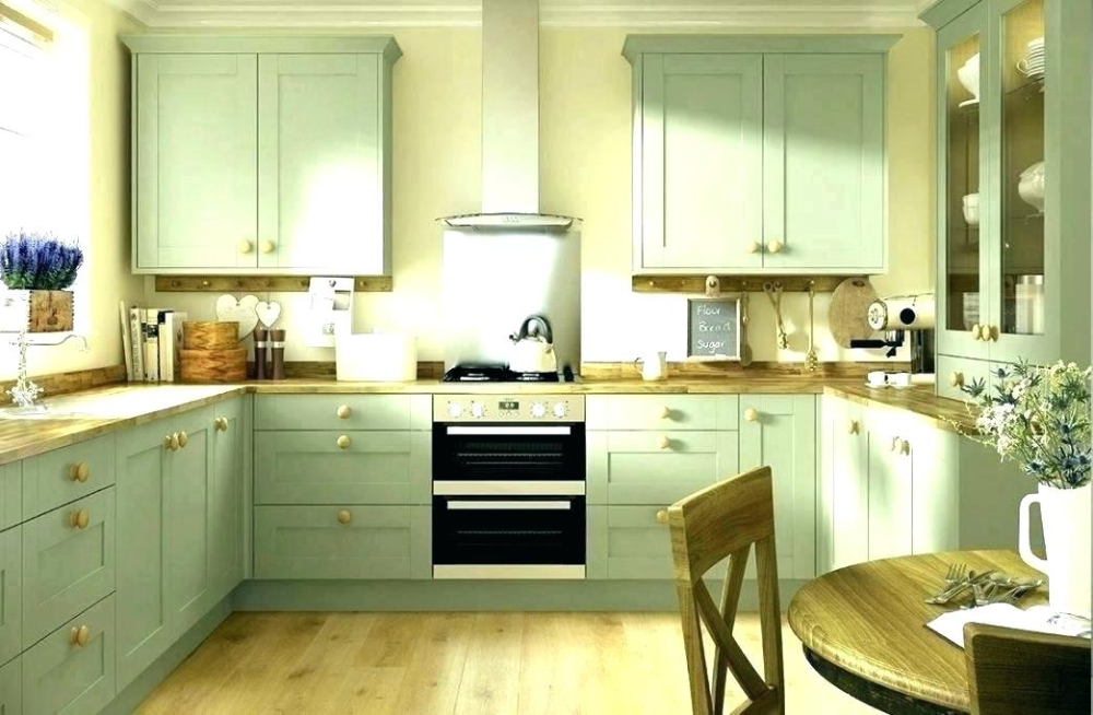 Light Green Kitchen Walls With White in 2020