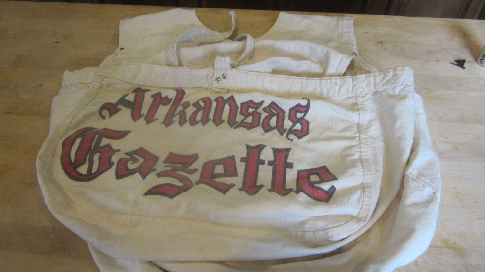 Vintage Newspaper Delivery Bag Arkansas Gazette News Paper Boy Bag Vintage Newspaper Delivery Bag Vintage