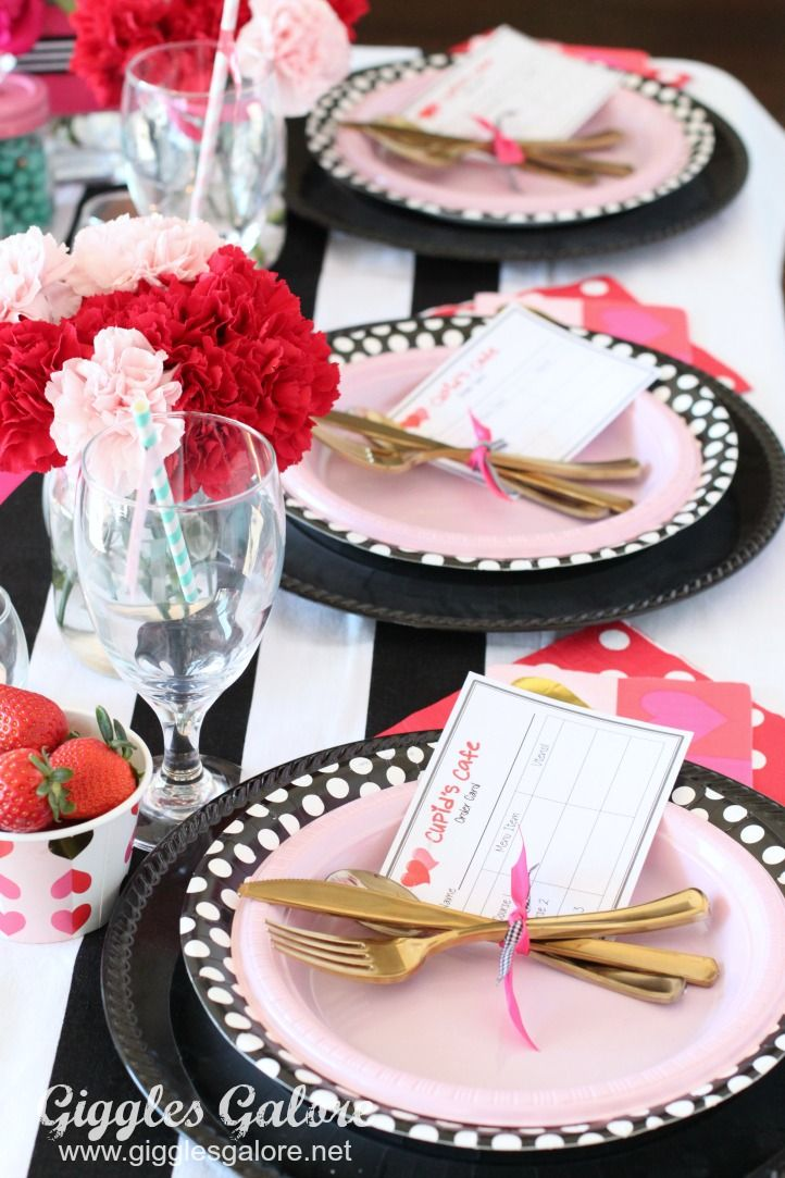 Kids Dinner Party Ideas Part - 26: Cupidu0027s Cafe Valentineu0027s Day Dinner