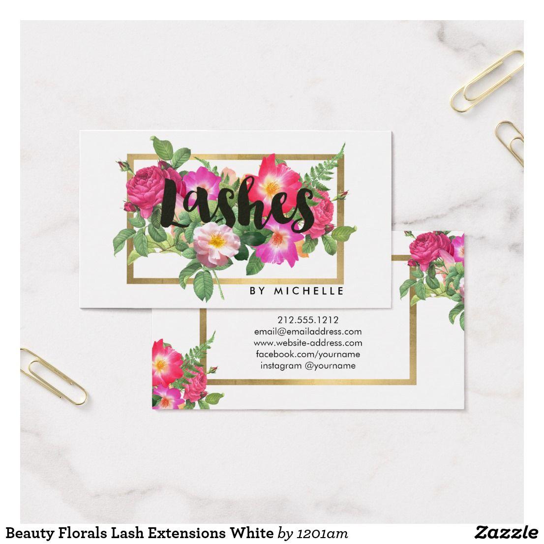 eyelash business cards free