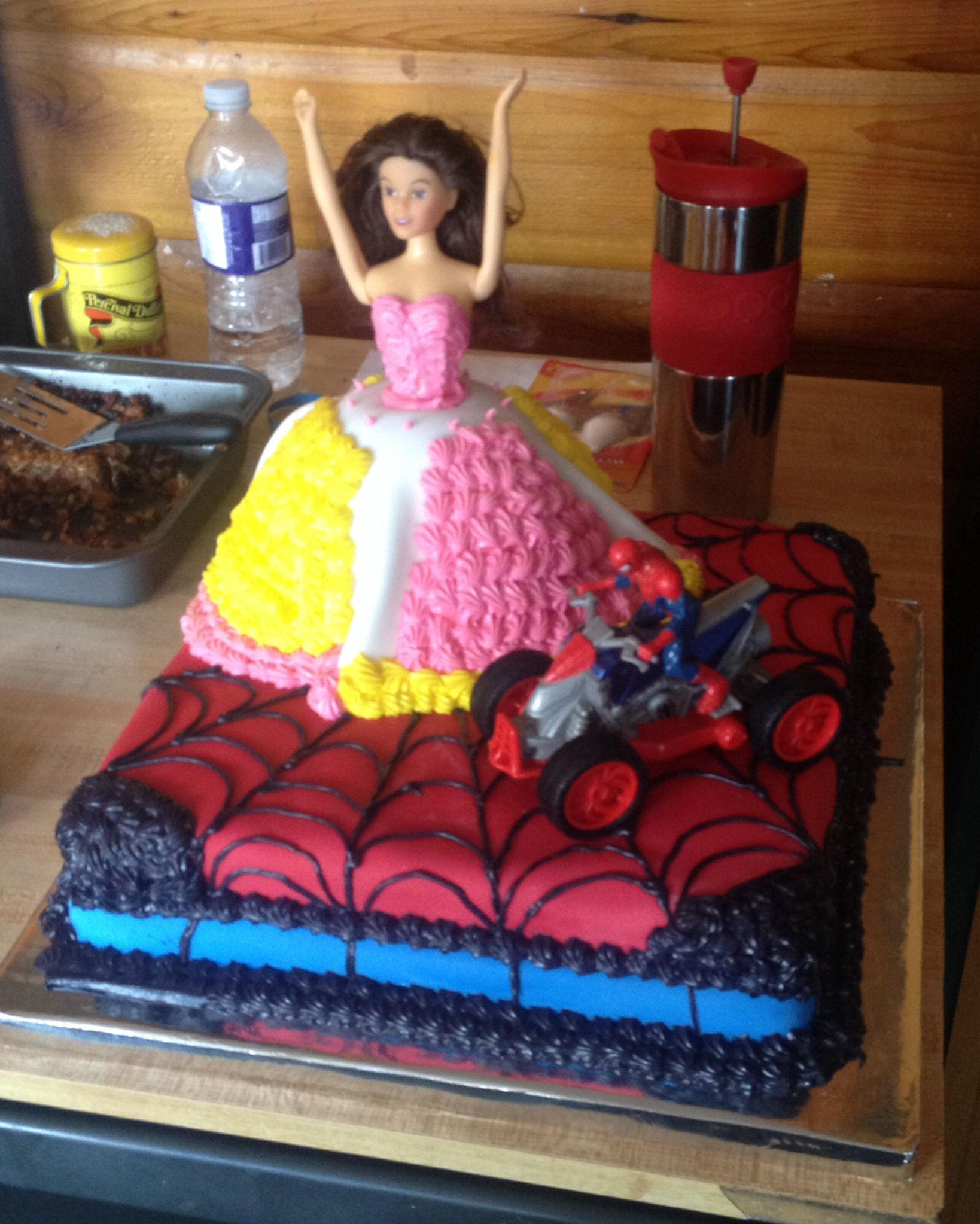 Cake I Made For 3 Year Old Boy And Girl Twins Barbie
