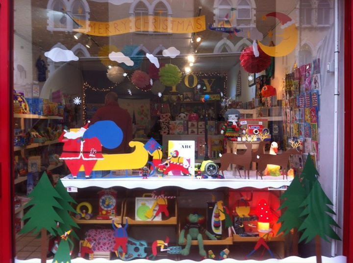 Hop Toy Shop Christmas Window Display By The Fabulous Illustrator Daniel Frost London England Christmas Window Christmas Window Display Toys Shop