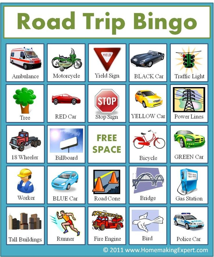 image relating to Road Trip Bingo Printable identified as 49 Printable Bingo Card Templates Children Highway family vacation bingo