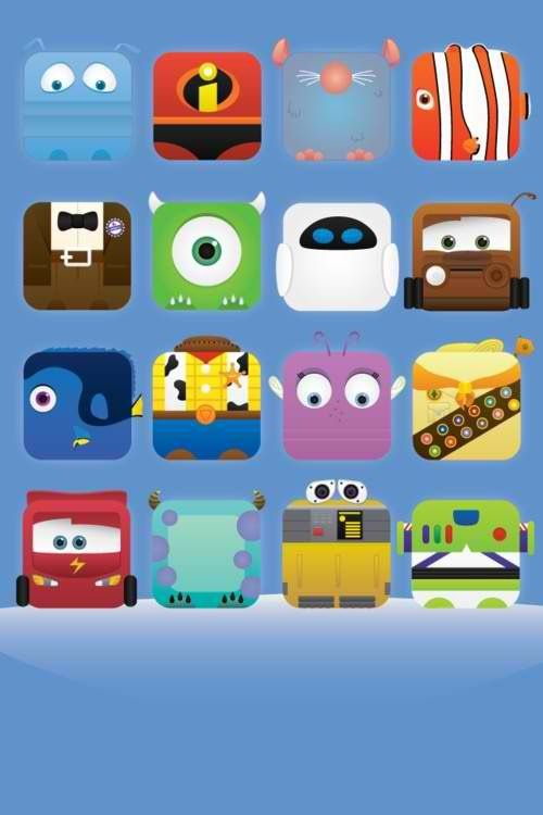 Disney PIXAR characters iPhone wallpaper 壁紙iphoneディズニー