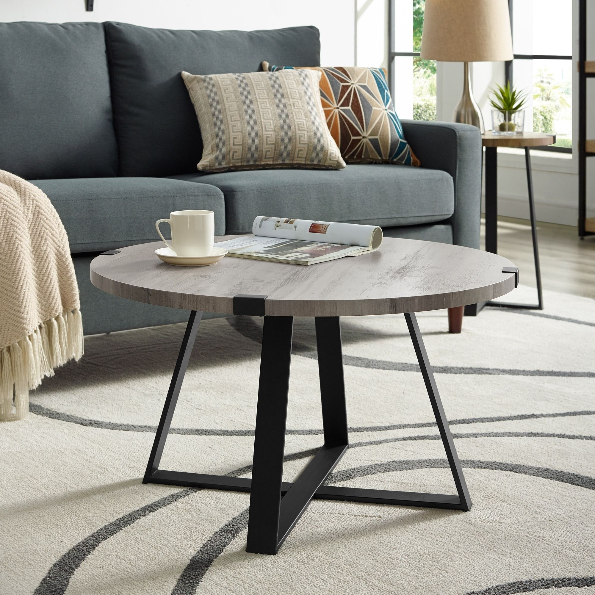 Overstock Com Online Shopping Bedding Furniture Electronics Jewelry Clothing More Coffee Table Coffee Table Grey Round Coffee Table Decor [ 2000 x 2000 Pixel ]
