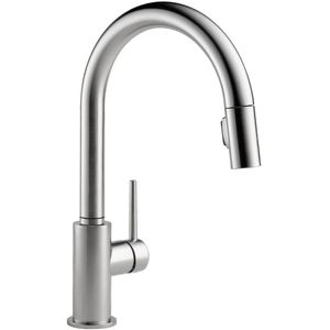 Delta Faucet D9159ARDST Trinsic Pull Out Spray Kitchen Faucet   Arctic  Stainless