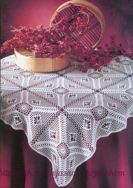 Delicadezas en crochet Gabriela: Mantel rectangular