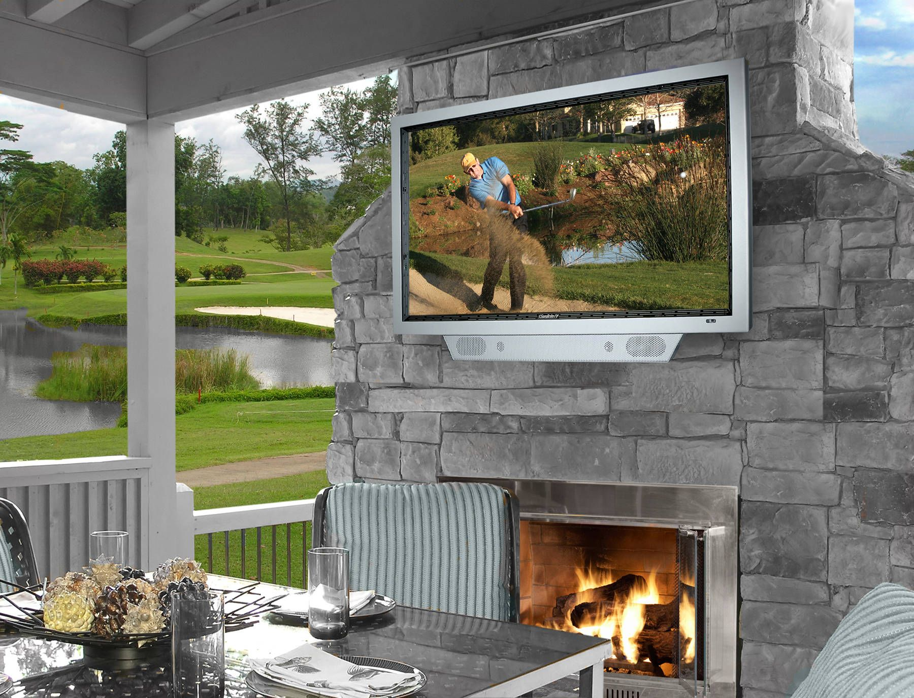 Outdoor Fireplaces - Tv Of The Week Sunbritetv Model 4610Hd