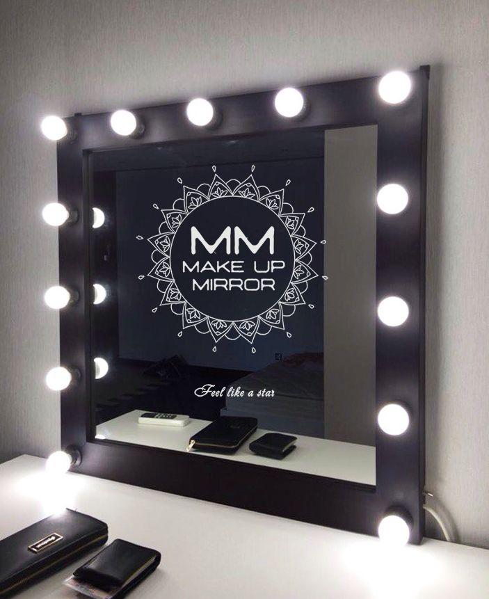 """Гримерное зеркало """"ММ"""" 800х800х70 из массива Бука в темном оттенке Венге!"""