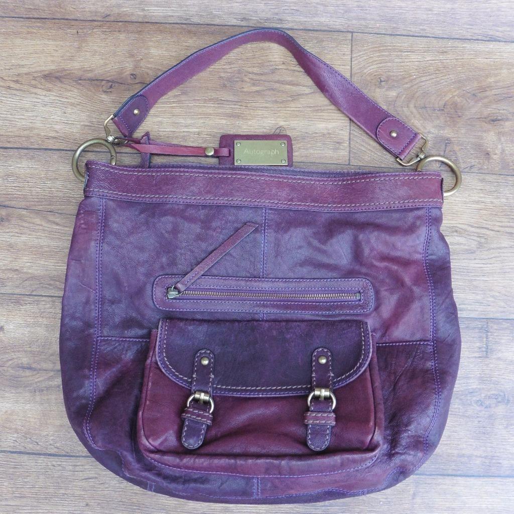 7e3aeac35ed7 Marks spencer autograph mulberry leather casual handbag shoulder bag hand  bag