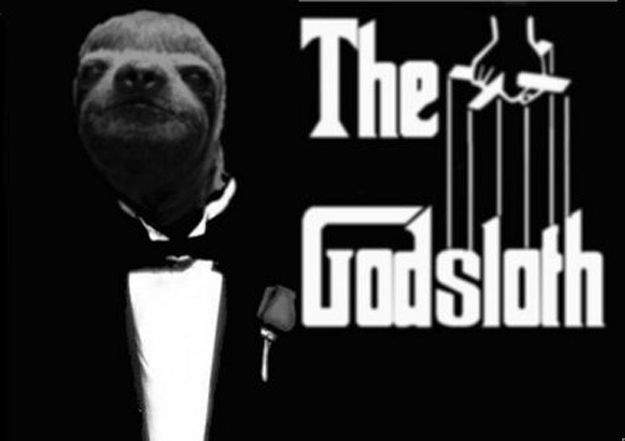 We LOVE our sloths and well, all sloths. Glad to see we're not alone - 16 Movie Posters, Improved By Sloths via BuzzFeed