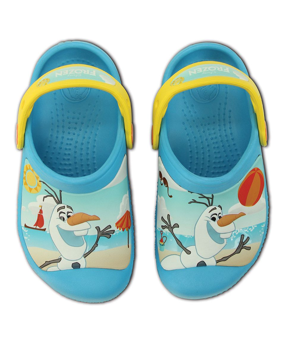 85f948b35 Children and Young.  12.99 Frozen Olaf Electric Blue Clog CROCS!