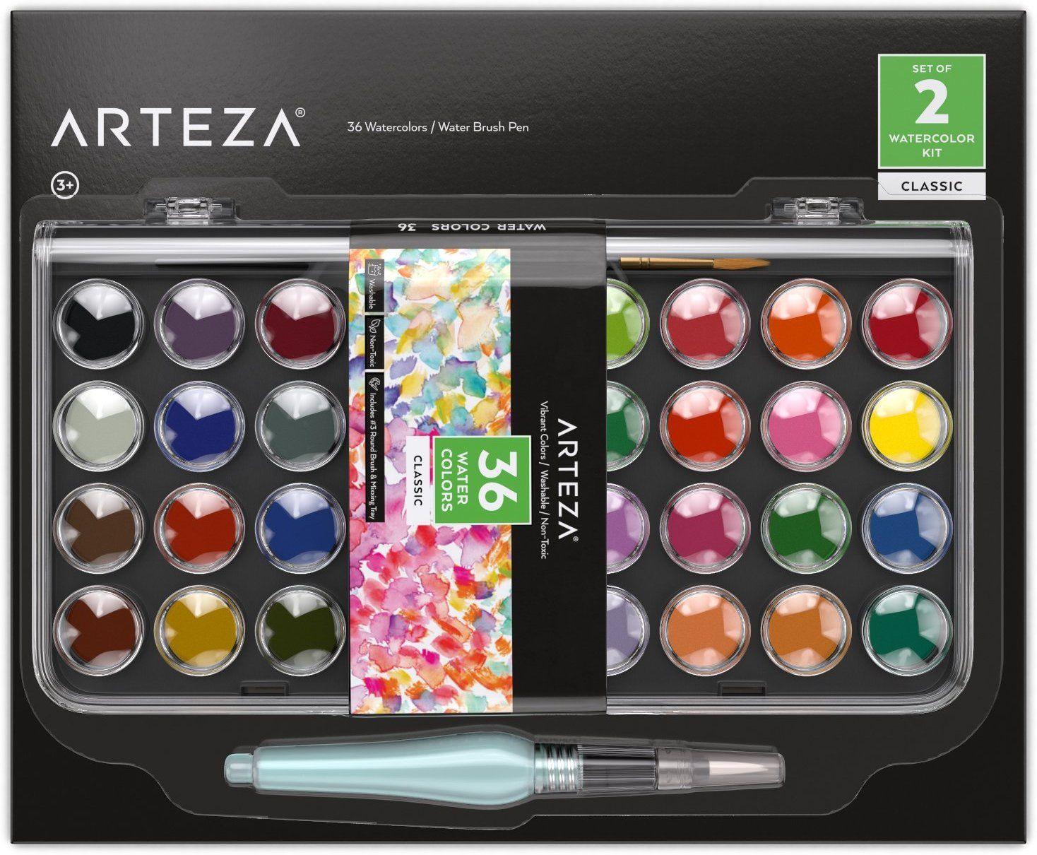 Arteza Classic Wasserfarben Kunstler Set Aquarellfarben Set Mit