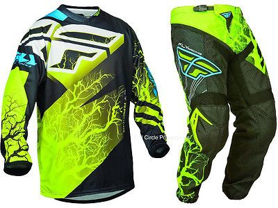 Fly Racing 2019 F-16 Jersey and Pants Combo Blue//Black//Hi-Vis XL,34