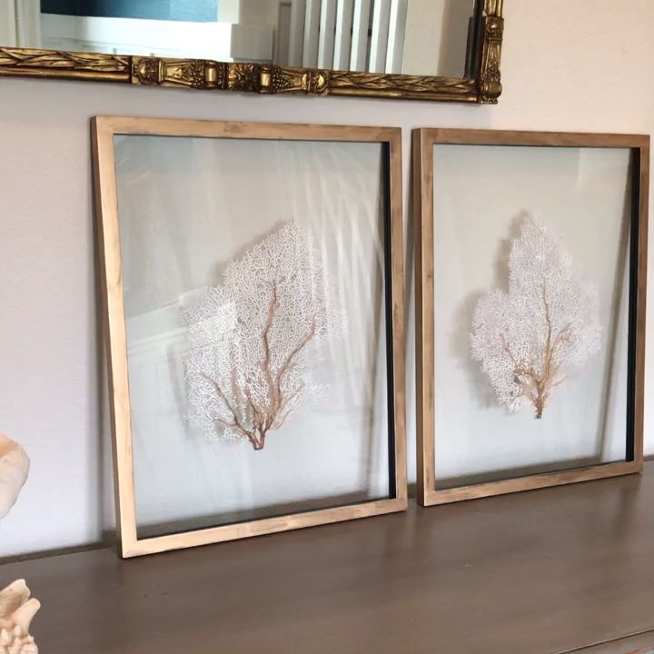 Photo of Custom Framed Sea Fan Art – Set of 2 • Angie Loves Life
