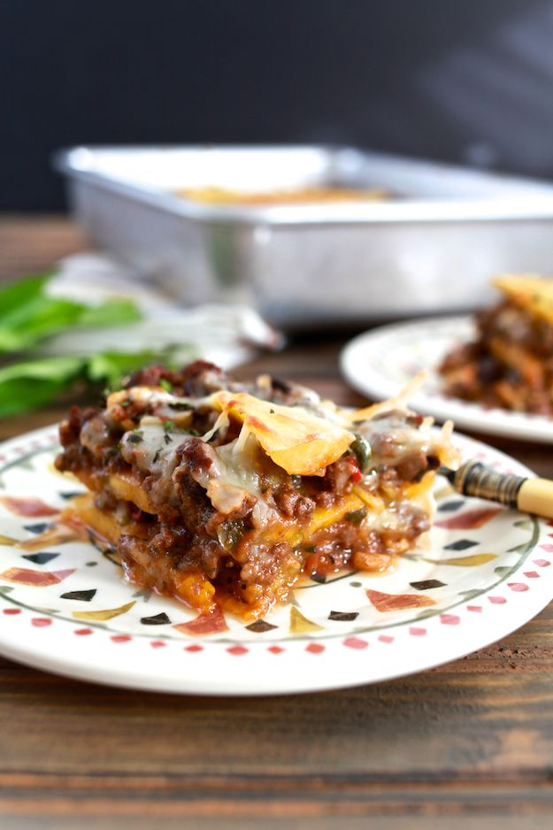 """Pastelón (Sweet Plantain """"Lasagna"""") - This recipe uses plantains in lieu of noodles"""