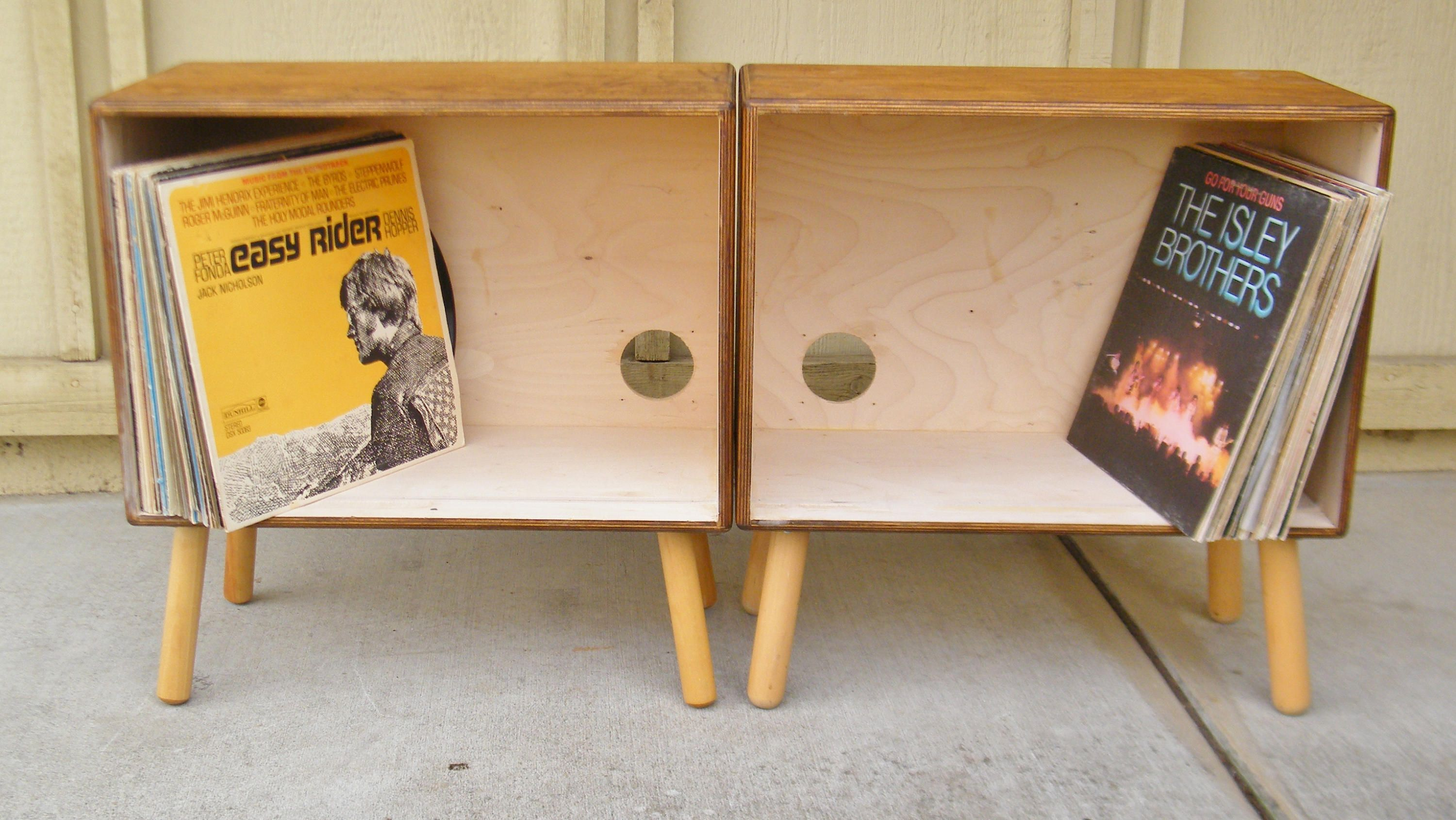 Vintage Speaker Record Cabinets by 15degrees on Etsy
