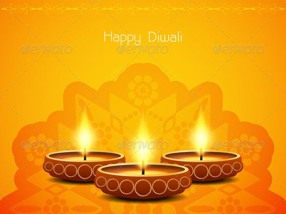 Abstract Diwali Background Design By Creative Hat Artistic