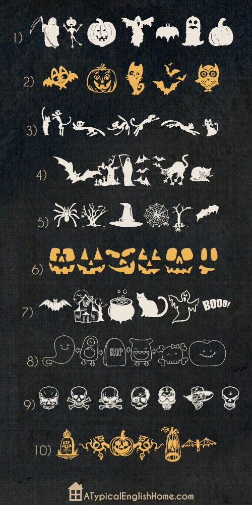 House and Hone: Halloween Fonts Roundup 50 plus Fonts!