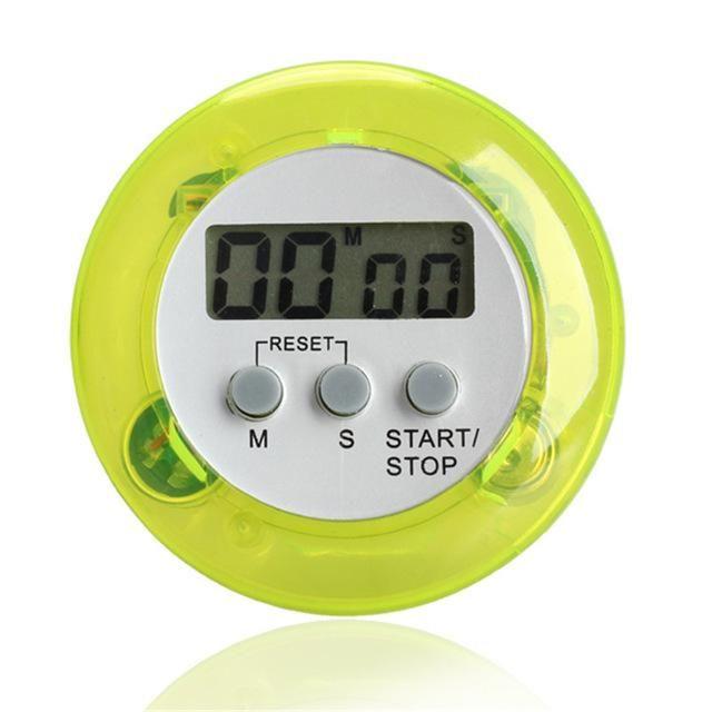 5Color Digital Alarm Clock Round Magnetic LCD Digital Kitchen ...