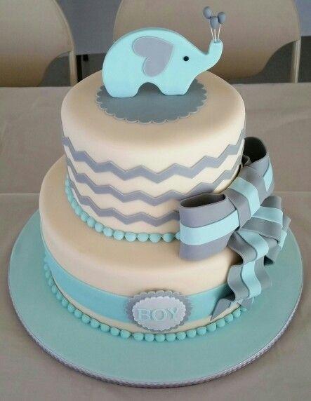 Baby Elephant Baby Shower Cake Elephant Baby Showers Elephant Baby Shower Cake Gold Baby Shower Cake