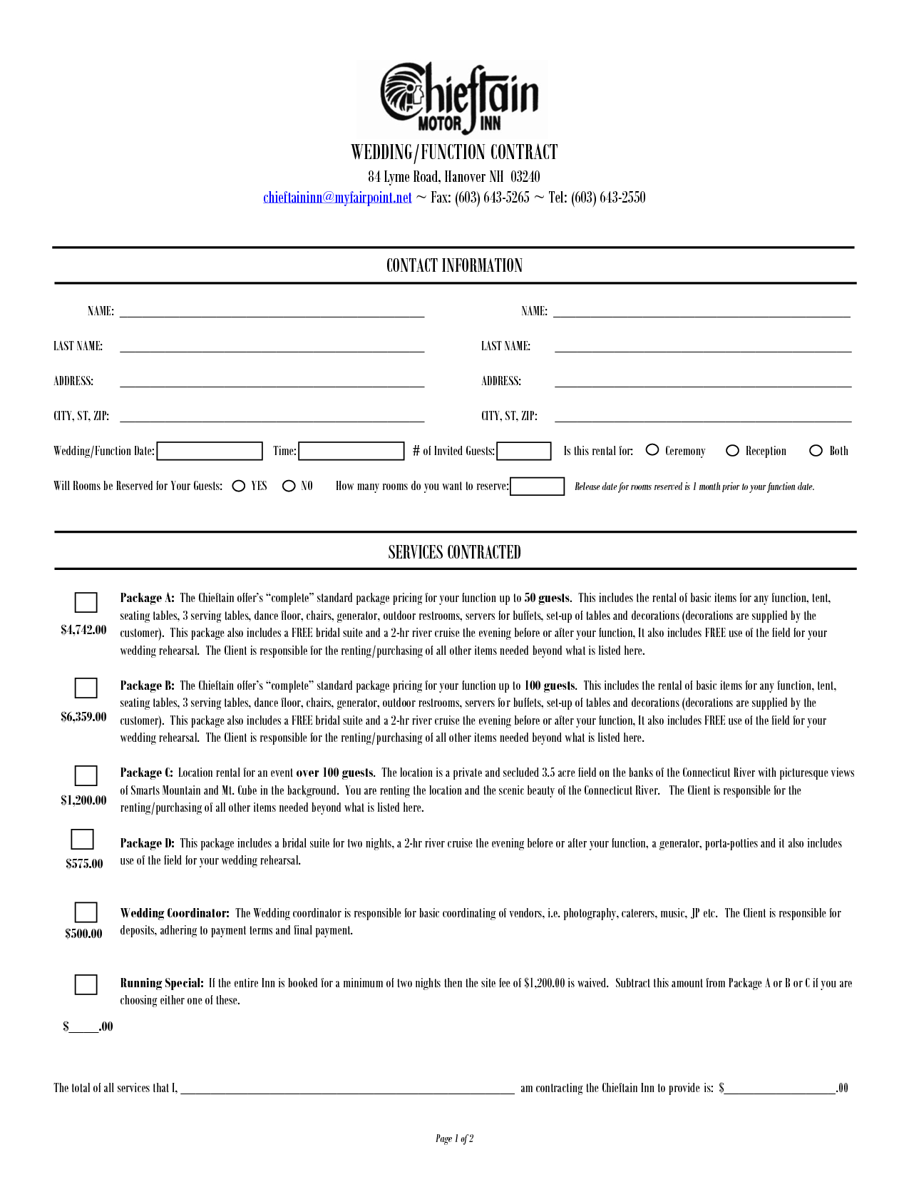 wedding contract for wedding planner Google Search project 2