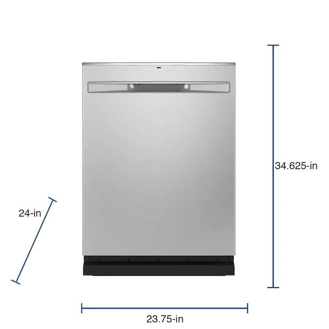Ge Dry Boost 46 Decibel Top Control 24 In Built In Dishwasher Fingerprint Stainless Steel Energy Star Lowes Com Built In Dishwasher How To Make Light Energy Star