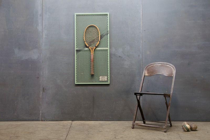 Vintage Tennis Raquet wall art