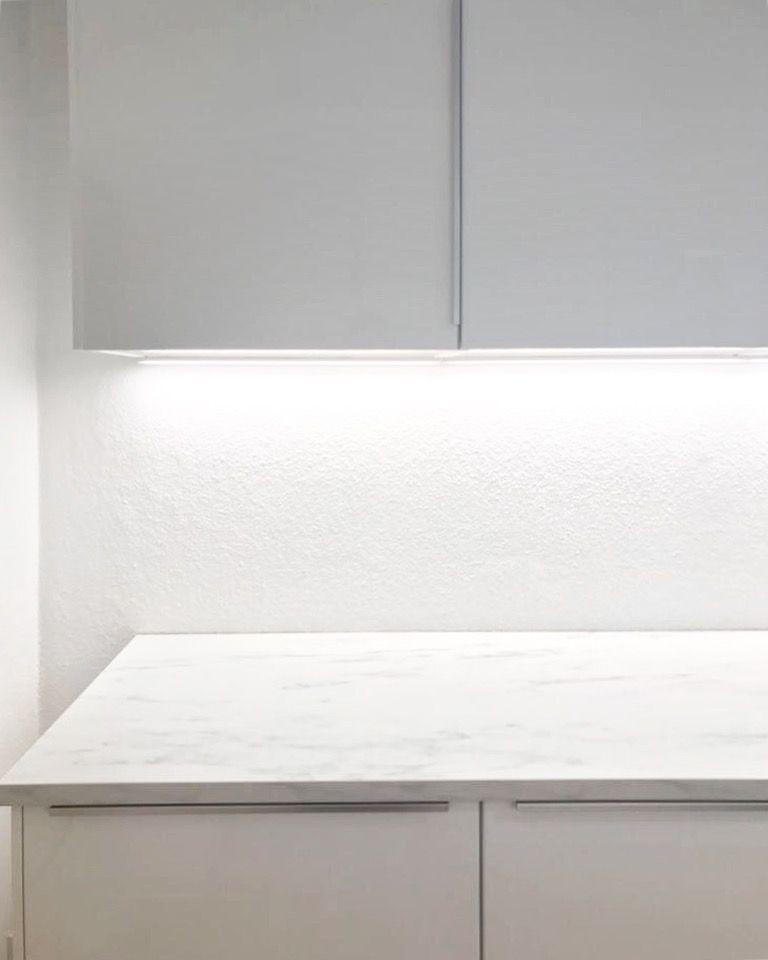 Ikea Metod Ringhult Küche Mit Ekbacken Marmor ( Optik) Arbeitsplatte