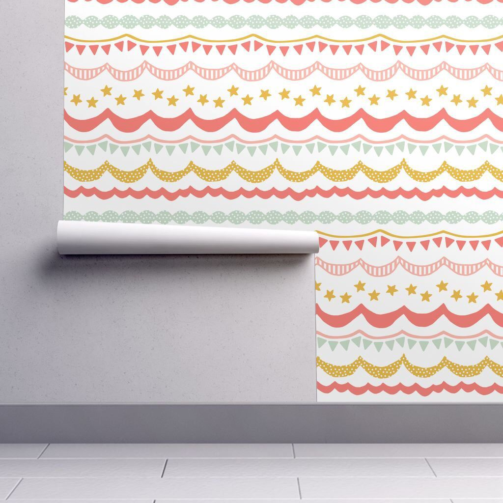 Bunting Flags Wallpaper Carnival Brights By Etsy Self