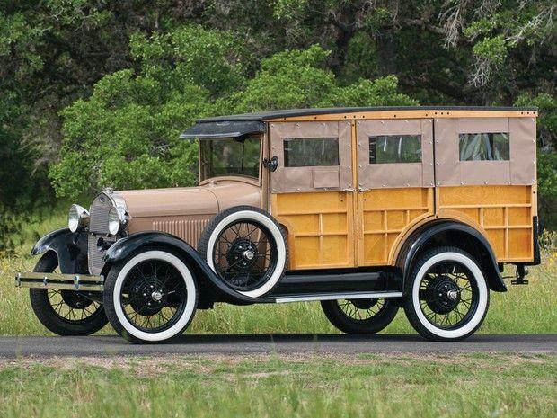 1928 Ford Model A Station Wagon...