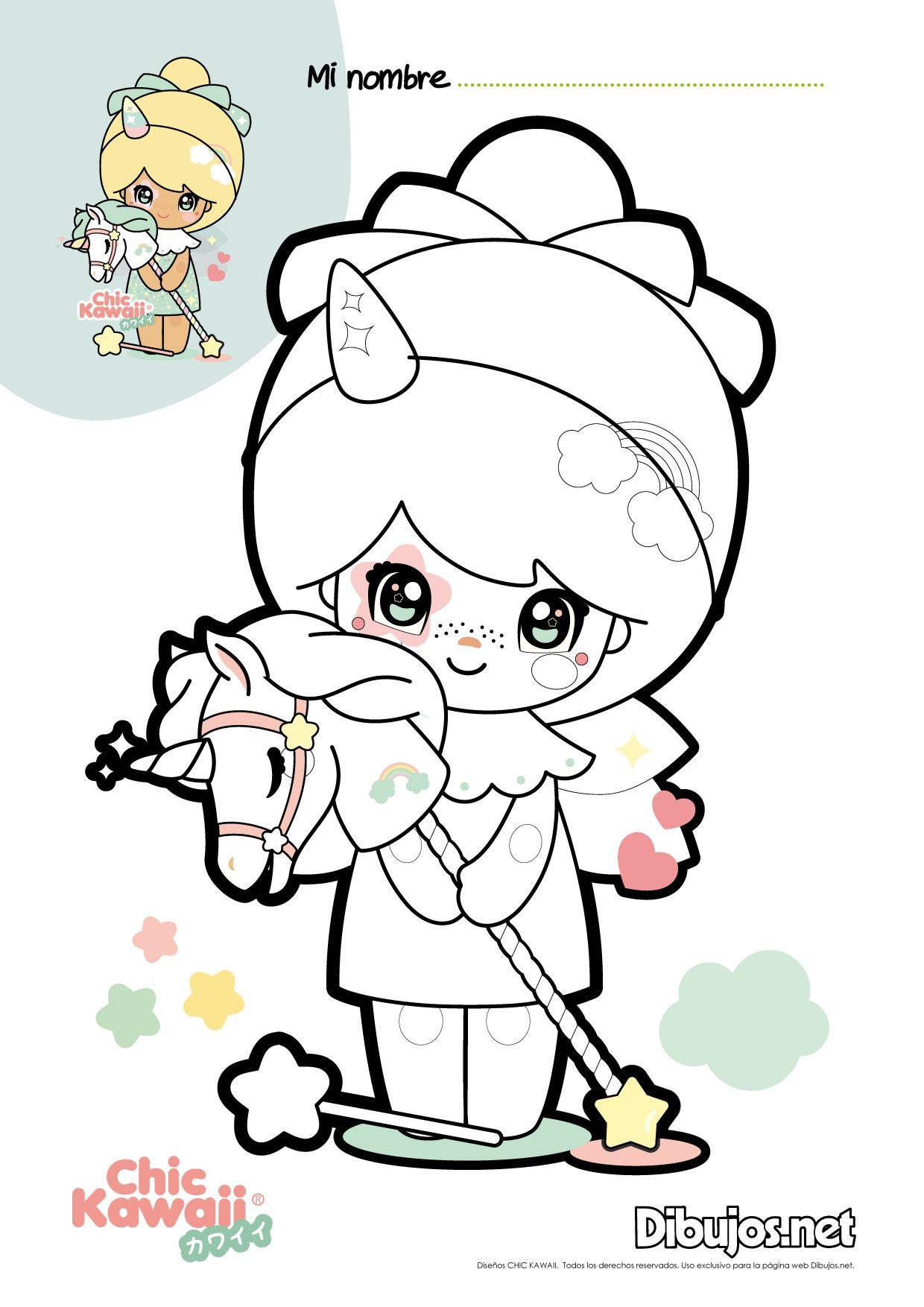 chic-kawaii-descarga-y-colorea-01.jpg (1240×1754) | Selah b-day ...