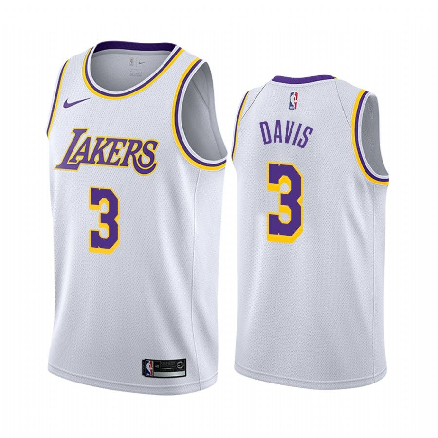 Men S Los Angeles Lakers Anthony Davis White Jersey In 2020 White Jersey Anthony Davis Sport Outfits