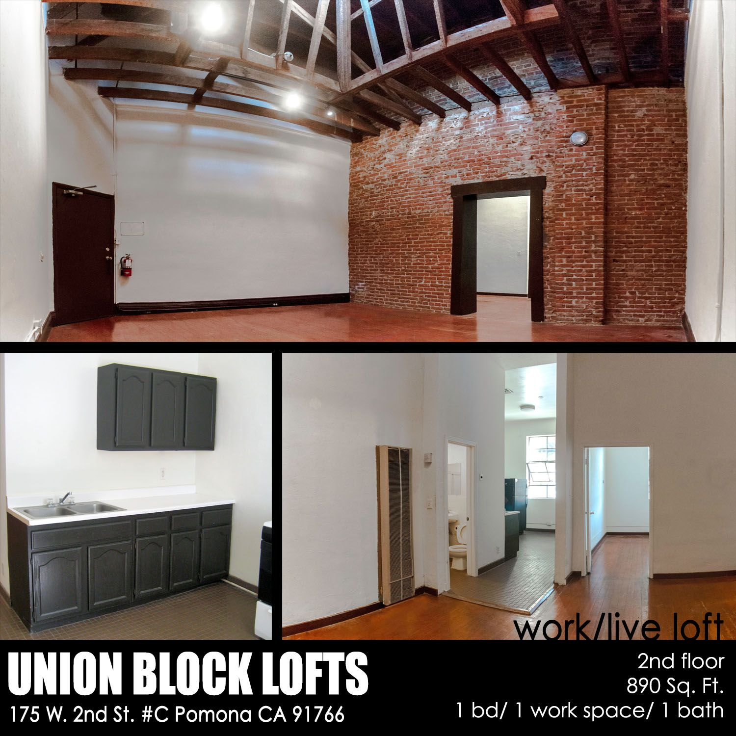 For Rent Live Work Loft In Pomona Arts Colony 890 Sq Ft 1bed 1bath Work Space 1 275 Month Leasing Inqui Lofts For Rent Live Work Lofts Property For Rent