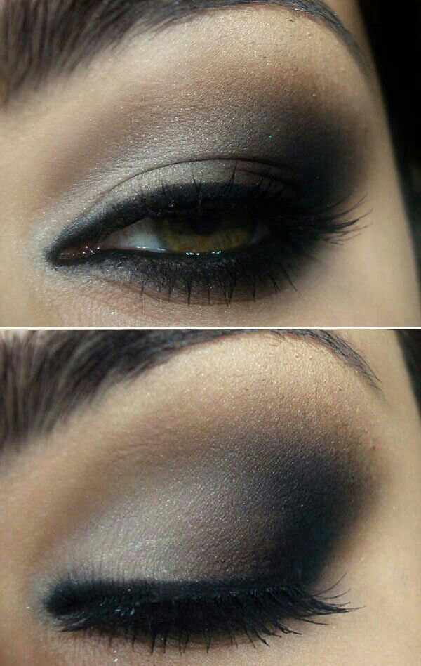 Beautiful smoky eye makeup · Black Eyeshadow TutorialGray ...