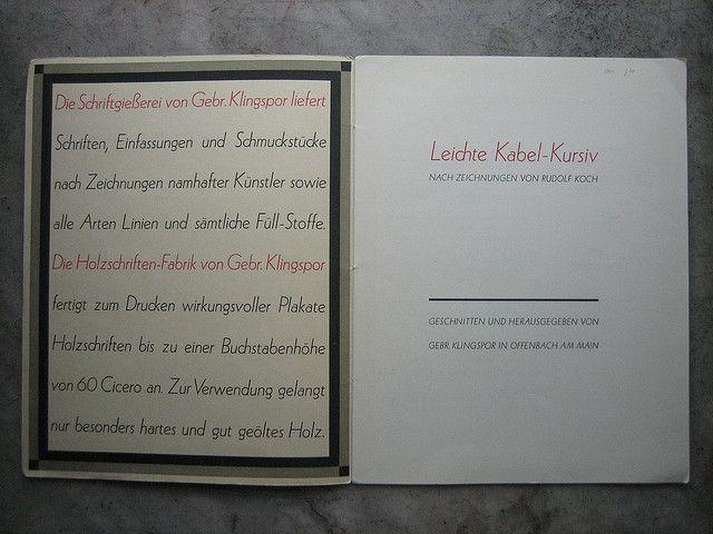 Rudolf Koch | Leichte Kabel=Kursiv / Versión cursiva de Kabel.