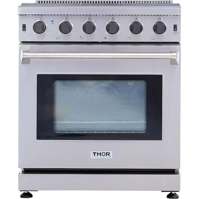 Thor Kitchen 30 In 5 Burners 4 5 Cu Ft Convection Freestanding Gas Range Stainless Steel Lowes Com In 2020 Gas Range Kitchen Prices Stainless Steel Range