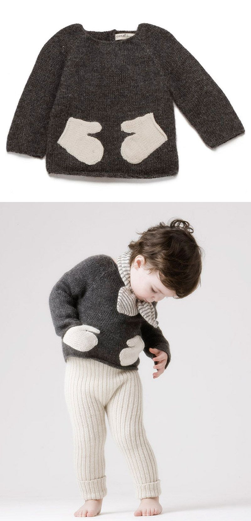 sweater with mitten pockets - DIY idea