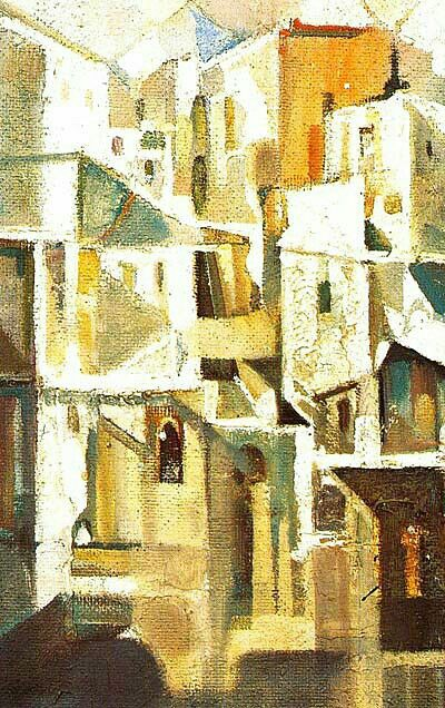 Peinture d'Algérie - Peintre Algérien, Ismaïl Samsom(1934-1988)…