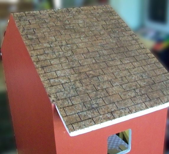 Five Dollar Dollhouse Faux Painted Dollhouse Shingles Shingling Roofing Diy Faux Painting