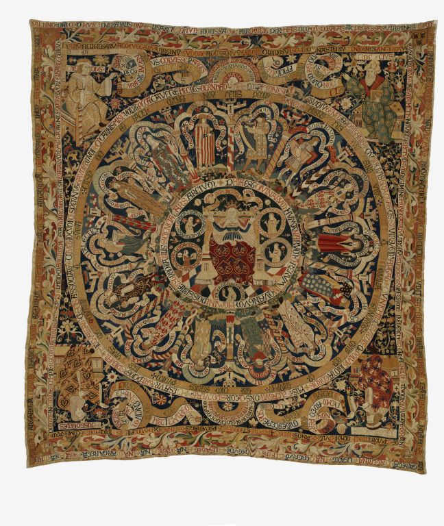 Hanging Place of origin: Germany (made)  Date: 1516 (made)  Artist/Maker: Unknown (production)  Materials and Techniques: Wool embroidery on a linen ground Dimensions  Weight: 57 kg, Width: 538.5 cm, Length: 467.5 cm