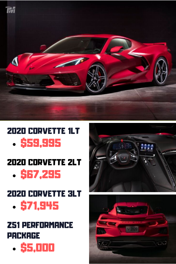 2020 Chevy Corvette C8 Price Revealed Starts At 59 995 Too Manly Chevy Corvette Corvette Price Corvette