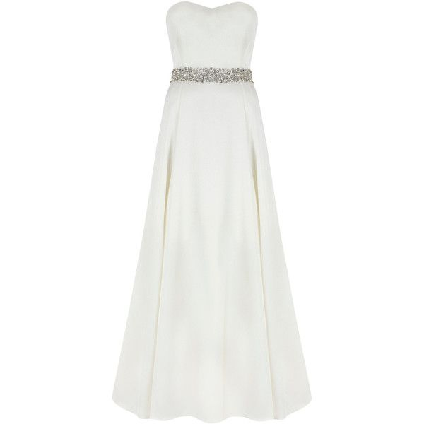 Aston Duchess Satin Maxi Dress (845 CAD) ❤ liked on Polyvore featuring dresses, wedding dresses, gowns, wedding and long dresses