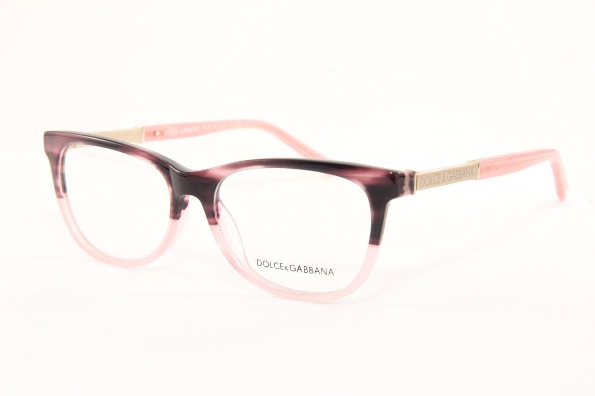 Armacao P Oculos De Grau Feminina D G Dolce Gabbana 3107 Com